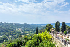 Panoramic view from Saint Paul de Vence, France Stock Images