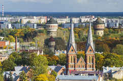 View on autumnal Riga, Latvia Stock Images
