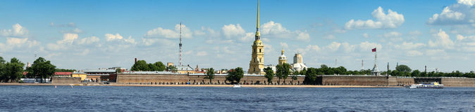 Panoramic view of Saint-Petersburg Stock Photography