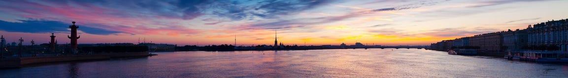 Panoramic view of  Saint Petersburg, Russia Stock Photos