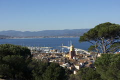 Panoramic View Saint Tropez Stock Photo
