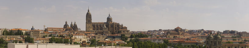 Panoramic view of Salamanca Royalty Free Stock Images