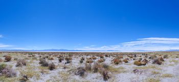 Panoramic view of the Salinas Grandes salt desert in Northern Argenina stock image