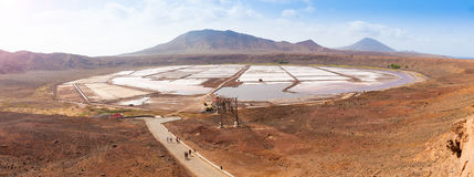 Panoramic view of Salinas  in Sal Cape Verde - Cabo Verde Royalty Free Stock Images