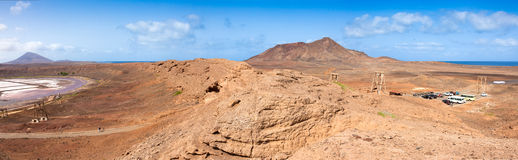 Panoramic view of Salinas  in Sal Cape Verde - Cabo Verde Royalty Free Stock Image