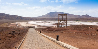 Panoramic View of Salinas  in Sal Cape Verde - Cabo Verde Island Stock Images