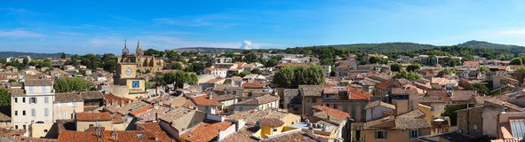 Panoramic view of Salon de Provence , South of France.
