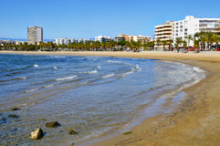 Panoramic view of Salou, Spain Royalty Free Stock Images