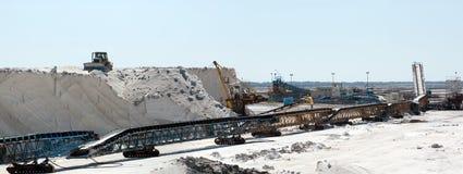 Panoramic view of Saltworks, Saline - Camargue Stock Photo