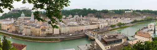 Panoramic View of Salzburg, Austria Royalty Free Stock Images