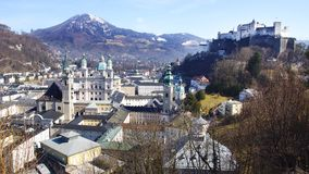 Panoramic view of the Salzburg. Royalty Free Stock Photo