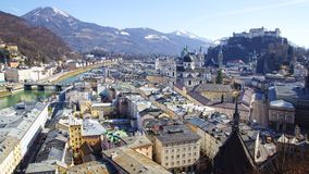 Panoramic view of the Salzburg. Royalty Free Stock Image