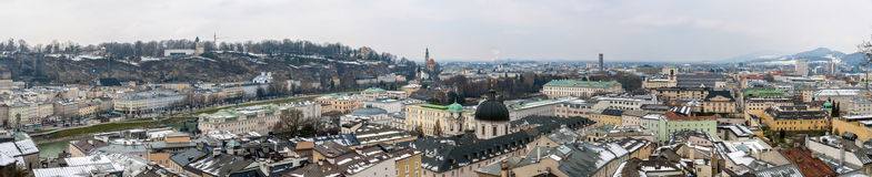 Panoramic view of Salzburg from Kapuzinerkloster Stock Photo