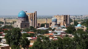 Panoramic view of Samarkand. Panoramic view of historical part of Samarkand Royalty Free Stock Image
