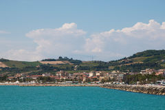 Panoramic view of San Benedetto del Tronto Royalty Free Stock Photography