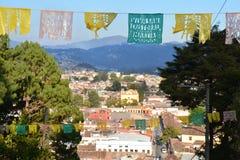 Panorama San Cristobal de las Casas Chiapas Mexico. Panoramic View of San Cristobal de las casas in Chiapas Mexico at sunset royalty free stock image