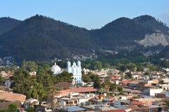 Panorama San Cristobal de las Casas Chiapas Mexico. Panoramic View of San Cristobal de las casas in Chiapas Mexico at sunset royalty free stock photo