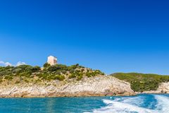Panoramic view of San Felice Bay; Apulia, Italy. Panoramic view of San Felice Bay;in Apulia region, north Italy Royalty Free Stock Images