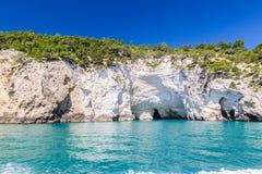 Panoramic view of San Felice Bay; Apulia, Italy. Panoramic view of San Felice Bay;in Apulia region, north Italy Stock Photo