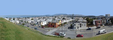 Panoramic view of San Francisco, CA Stock Images