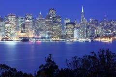 Panoramic view of San Francisco at night. California, USA Royalty Free Stock Photos