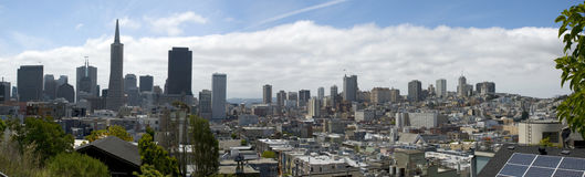 Panoramic view of San Francisco skyline, California Stock Images