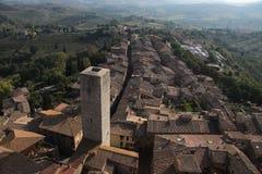 Panoramic view of San Gimignano Stock Photography