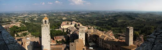Panoramic view of San Gimignano Stock Photo