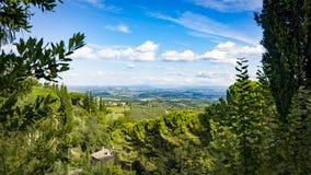 Panoramic view from San Gimignano Stock Photos
