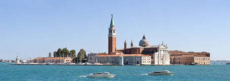 Panoramic view of San Giorgio island and San Marco Basin, Venice - Italy Stock Photo