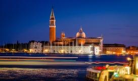 Panoramic view at San Giorgio Maggiore island, Venice, Veneto, I Royalty Free Stock Photos