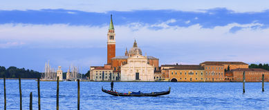 Panoramic view of san giorgio maggiore Royalty Free Stock Images