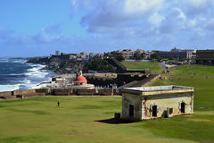 Panoramic view of San Juan, Puerto Rico royalty free stock images