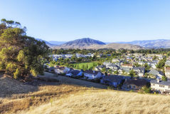 Panoramic view of San Louise Obispo , California, USA. Panoramic view of San Louise Obispo, California. View from King Trail at Irish natural reserve, California royalty free stock photo