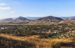 Panoramic view of San Louise Obispo , California, USA. Panoramic  view of San Louise Obispo, California. View from King Trail at Irish natural reserve Royalty Free Stock Photo