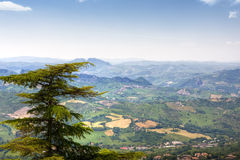 Panoramic view from San Marino hill Royalty Free Stock Image