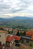Panoramic view from San Marino, Italy Stock Photo