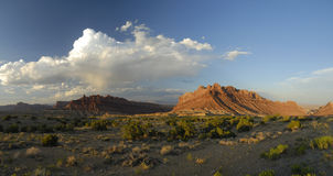 Panoramic view in San Rafael Swell in Utah Royalty Free Stock Photography