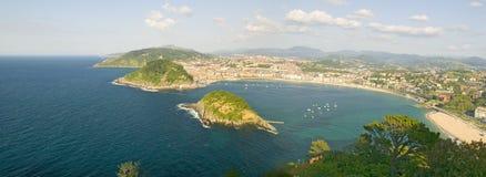 Panoramic view of San Sebastian, Spain Royalty Free Stock Photos