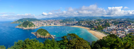 Panoramic view of San Sebastian in Spain Stock Photo