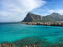 Panoramic view of San Vito lo Capo and Monte Monaco in background Stock Photography