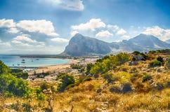 Panoramic View of San Vito Lo Capo, Sicily Royalty Free Stock Photos