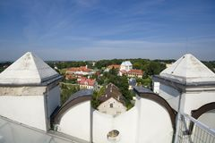 Panoramic view of Sandomierz Royalty Free Stock Photography