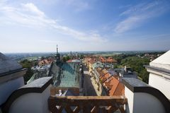 Panoramic view of Sandomierz Royalty Free Stock Image