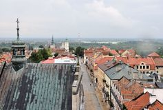 Panoramic view of Sandomierz, Poland Royalty Free Stock Photo