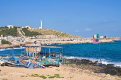 Panoramic view of Santa Maria di Leuca. Puglia. Italy. Royalty Free Stock Photos