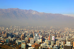 Panoramic view of Santiago de Chile Stock Photography