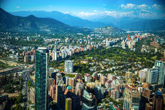 Panoramic view of Santiago Stock Photo