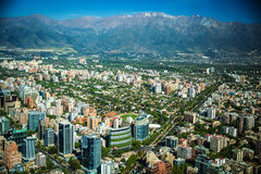 Panoramic view of Santiago Stock Images