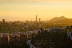 Panoramic view of Santiago Royalty Free Stock Photo